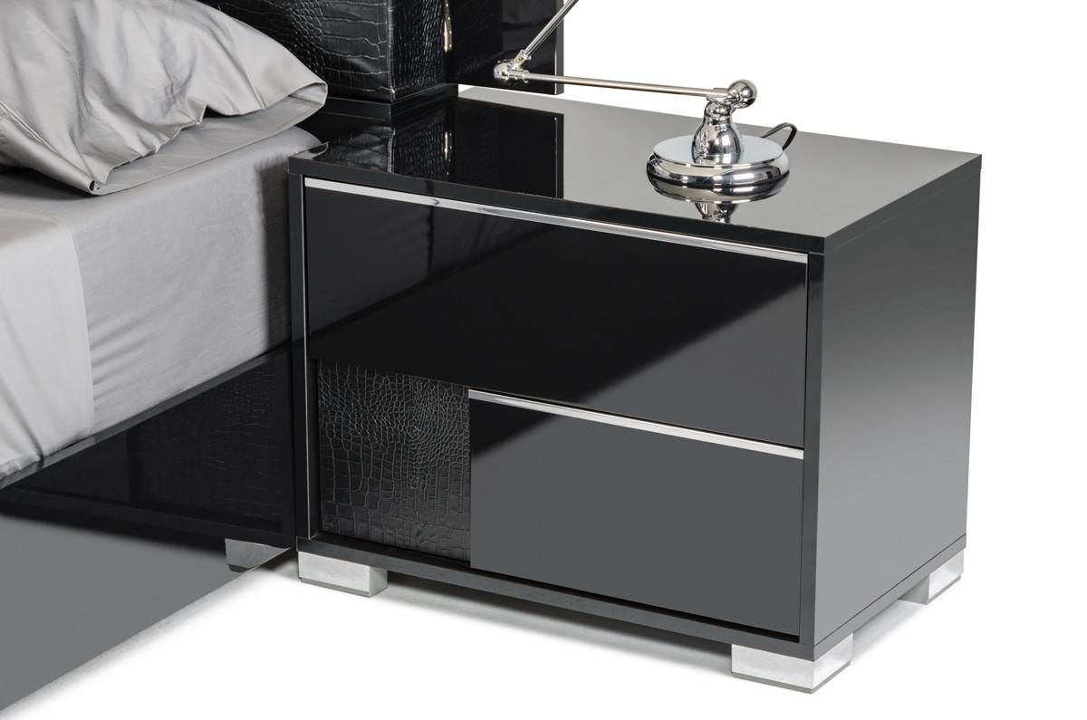purchase nightstands in modern miami  sw th ave hallandale  - modrest grace italian modern black nightstand coming soon