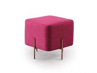 Divani Casa Adler Modern Pink Small Ottoman