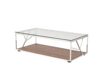 Modrest Cressida Modern Walnut Coffee Table