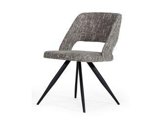 Modrest Palmer - Modern Grey Fabric Dining Chair (Set of 2)