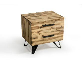 Modrest Sala Modern Light Wood Nightstand