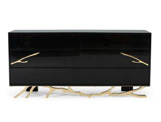 Modrest Legend Modern Black & Gold Dresser