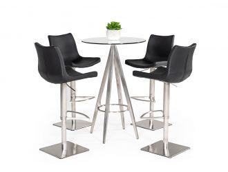 Modrest Dallas - Modern Black Bar Table