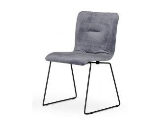 Modrest Yannis - Modern Grey Fabric Dining Chair (Set of 2)