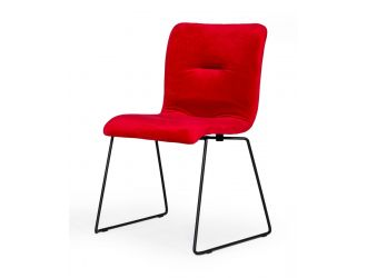 Modrest Yannis - Modern Red Fabric Dining Chair (Set of 2)