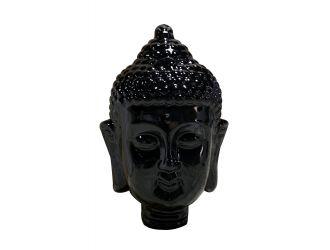 Modrest Modern Black Buddha Head Sculpture