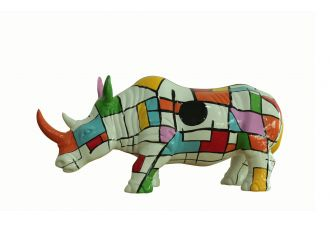 Modrest Abstract Colorful Rhino Sculpture