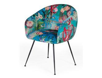 Modrest Roxann - Contemporary Floral Velvet Dining Chair