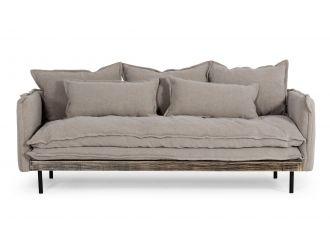 Divani Casa Mathis - Modern Grey Fabric Sofa