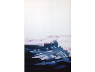 Modrest 19013 - Modern Blue Framed Oil Painting
