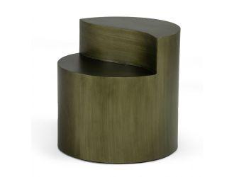 Modrest Avocet- Modern Grey End Table