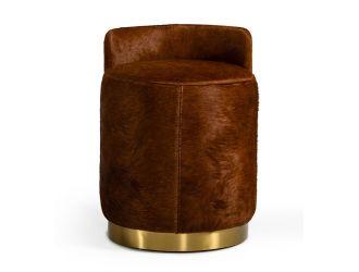 Modrest Belvista - Modern Brown Cowhide Ottoman