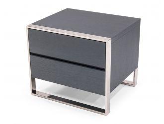 Modrest Jolene - Modern Grey Nightstand