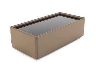 Modrest Vargas - Modern Beige Leatherette Coffee Table