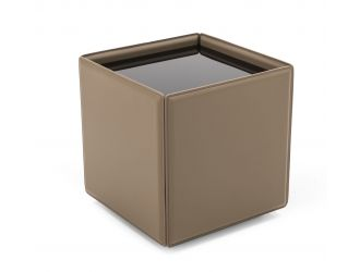 Modrest Vargas - Modern Beige Leatherette End Table