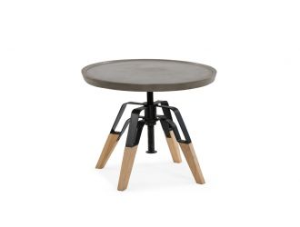 Modrest Yates Modern Concrete & Oak End Table