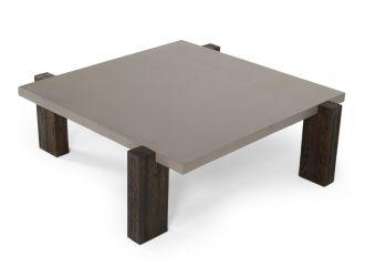 Modrest Milton - Dark Grey & Walnut Square Coffee Table
