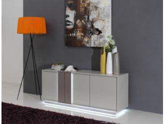 Vertigo Modern Grey LED Lit Buffet