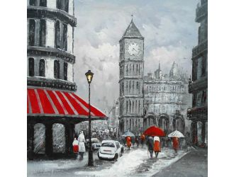 ADC8087 City Street Oil Painting On Canvas