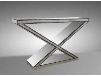 Manor - Transitional Mirrored Console Table