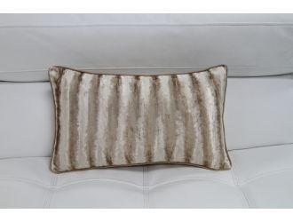 Elegant Faux Fur Rectangle Throw Pillow