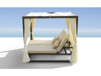 Redondo Patio Canopy Day Bed w/ Dual Adjustable Backrests