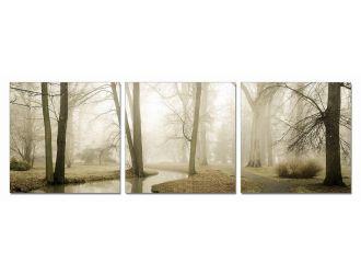 Modrest Mist 3-Panel Photo On Canvas