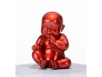 XD00584 Modern Red Baby Sitting Sculpture