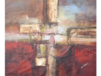 "C2223 39"" X 39"" Oil Painting"