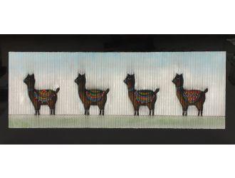 "Modrest 55"" x 28"" Alpaca Oil Painting"