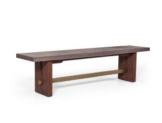 Modrest Amos Modern Concrete & Acacia Dining Bench