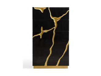 Modrest Aspen - Modern Black and Gold Chest