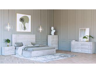 Nova Domus Asus - Modern Italian White Bedroom Set