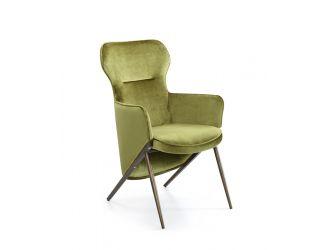 Modrest Coreen Modern Green Velvet Accent Chair