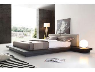 Modrest Opal Modern Wenge & Grey Platform Bed
