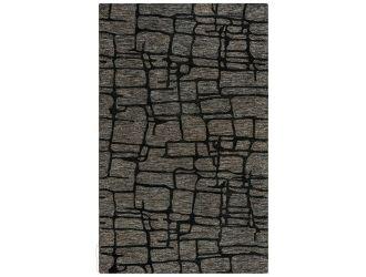 Kaaleen Becker Contemporary Charcoal 5' x 8' Rug