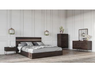 Nova Domus Benzon Italian Modern Dark Rovere Bedroom Set