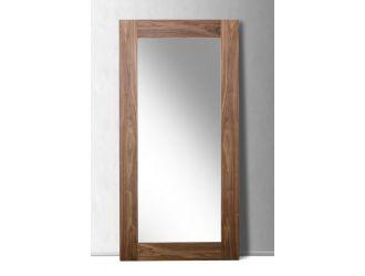 Modrest Beth Mid-Century Walnut Floor Mirror