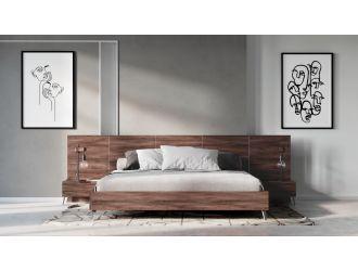Nova Domus Brooklyn Italian Modern Walnut Bed