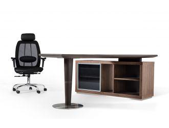 Lincoln Modern Office Desk w/ Side Storage Cabinet