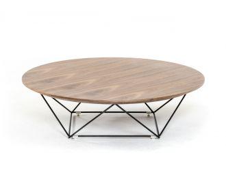 Modrest Spoke Modern Walnut Coffee Table