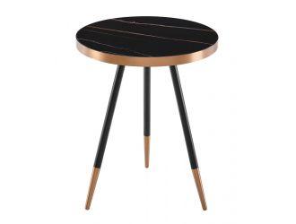 Modrest Cayson - Modern Black Ceramic End Table