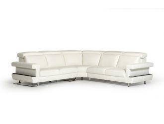 Estro Salotti Crosby - Italian Modern White Leather Sectional Sofa