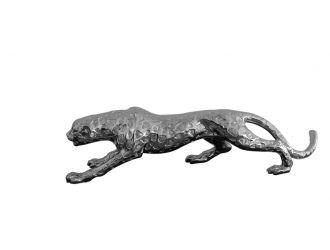 """Modrest Jaguar Modern Silver Sculpture 32"""""""