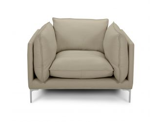 Divani Casa Harvest - Modern Taupe Full Leather Chair