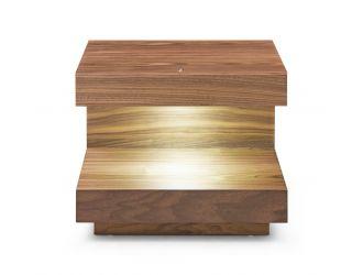 Modrest Esso - Contemporary Walnut End Table