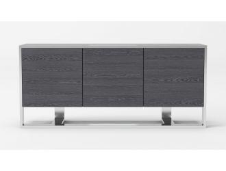 Modrest Fauna - Modern Elm Grey & Stainless Steel Buffet