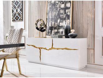Modrest Aspen Modern White & Gold Buffet