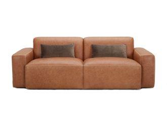Divani Casa Galena Modern Brown Sofa