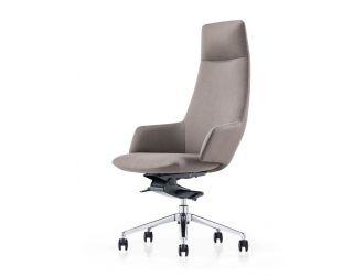 Modrest Gates - Modern Grey High Back Executive Office Chair